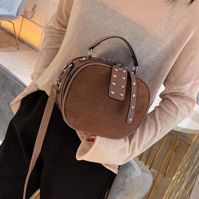 Scrub Leather Crossbody Bags For Women 2020 Winter Shoulder Messenger Mini Phone Bag Female Handbags Sac A Main Female Tote Bag