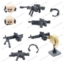 Assemble Weapons Military Figures Building Block Moc World War 2 Army Special Equipment Sniper Rifle Gifts Model Educational Toy sino japanese war world war 2 ww2 chinese eighth route army military building block toy figures brick with weapons 71008