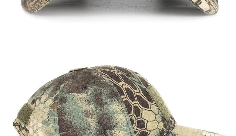 17 Colors Camo Men's gorras Baseball Cap Male Bone Masculino Dad Hat Trucker New Tactical Men's Cap Camouflage Snapback Hat 2020 27