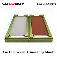 Unbent flex mould for iphone X/XS Max glass digitizer OCA polarizer film location laminator for universal laminating machine use все цены