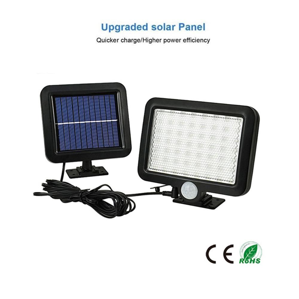56/30 LED Solar Lights LED Outdoor Waterproof Motion Sensor Solar Wall Light For Garden Four Modes Adjustable Solar Lamps Split