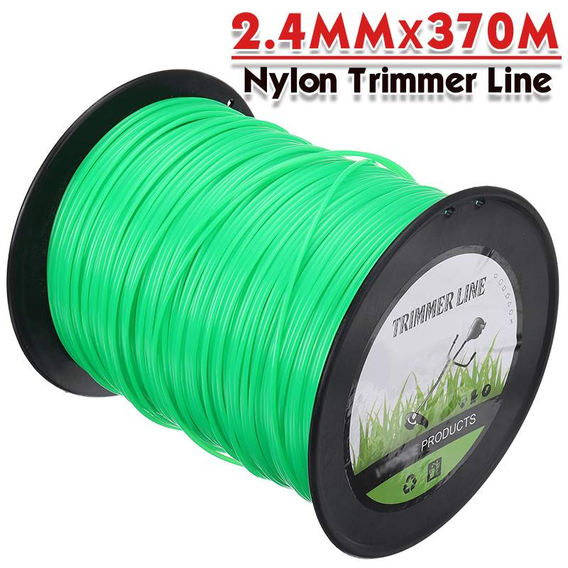 2 4mm 370m Mowing Nylon Rope Line Strimmer Brushcutter Trimmer Long Round Roll Round Grass Trimmer Head Nylon Grass Rope Line