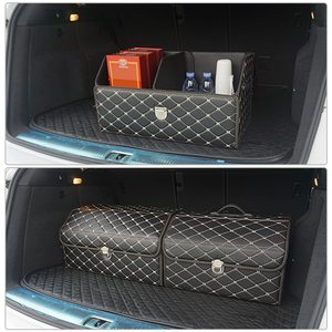 Image 2 - AUTOROWN PU Leather Trunk Organizer Box for Shopping Camping Picnic Home Garage Storage Bag Auto Interior Accessories S/M/L