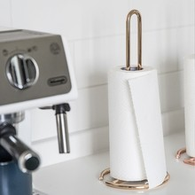 Creative wrought iron Nordic paper towel rack dining table kitchen roll holder free punching vertical paper towel storage rack