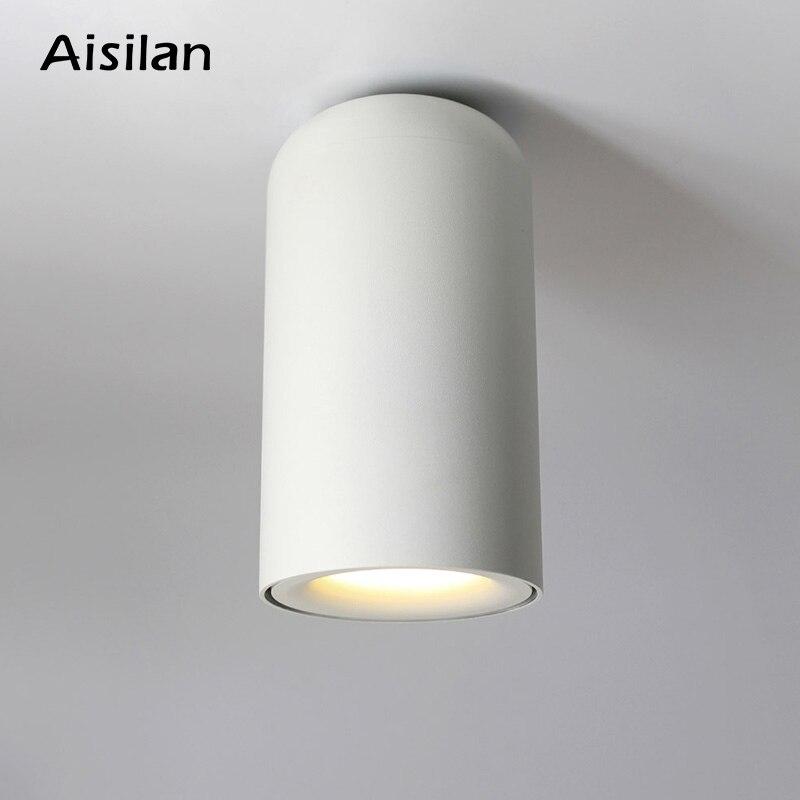 AIsilan klasik İskandinav tarzı LED Downlight yüzeye monte tavan lambaları oturma odası yatak odası için koridor mutfak AC85-260V