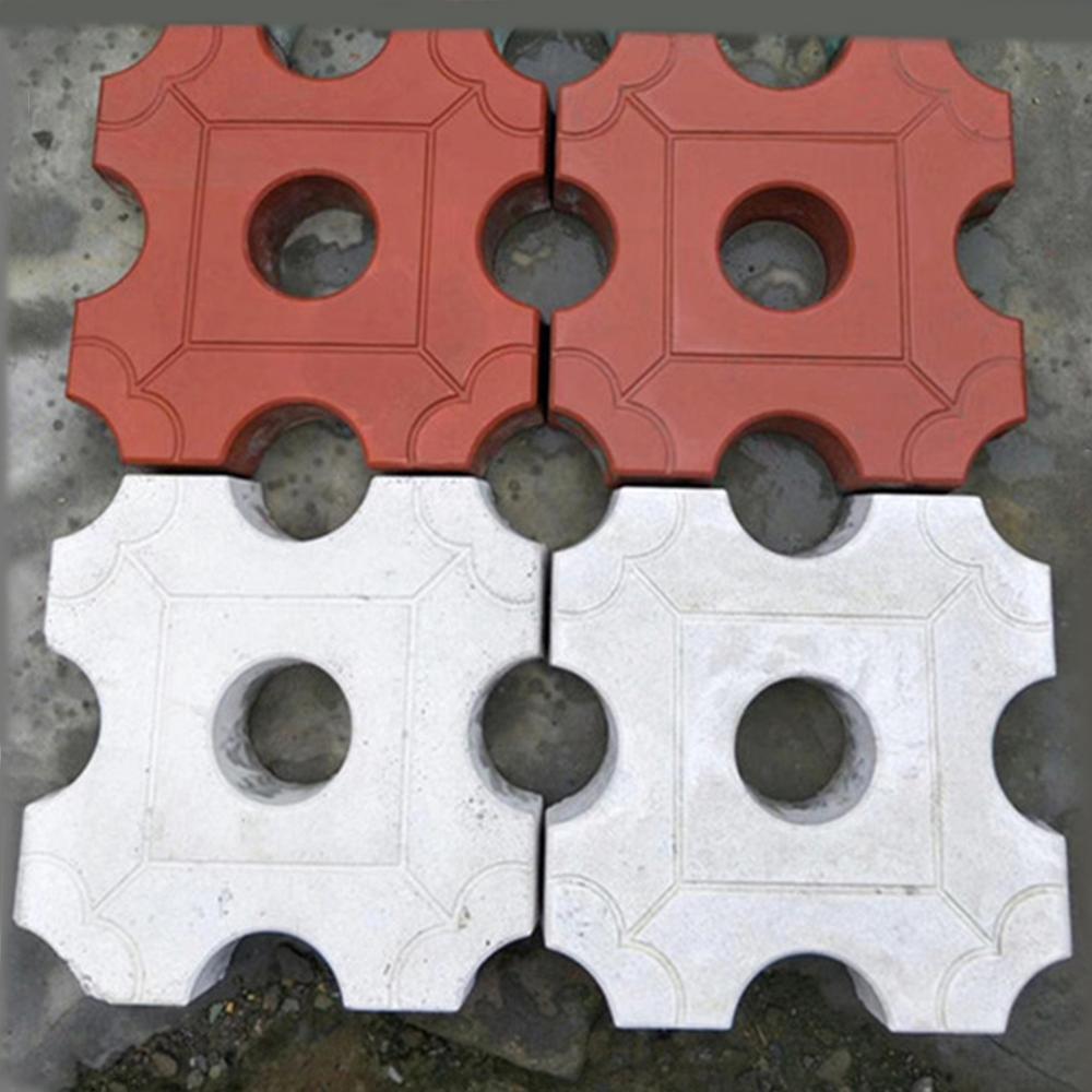 Path Maker Mold Reusable Concrete Cement Stone Design Paver Walk Mould DIY Reusable Concrete Brick Courtyard Road Pavement Mold