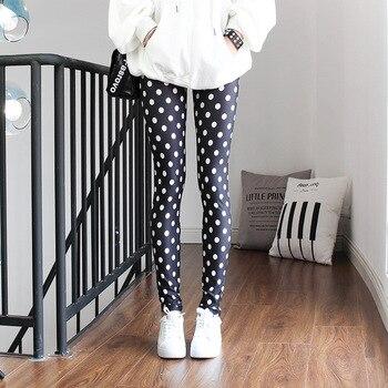 Fitness Women Leggings Dot Striped Print Breathable Pants High Waist Stretch Polyester High Quality Girl Legging Workout high waist polka dot print trumpet pants