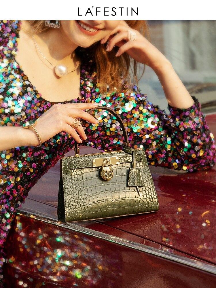 Handbag Messenger-Bag Women Bag Crocodile-Texture Shoulder Small LAFESTIN New-Fashion