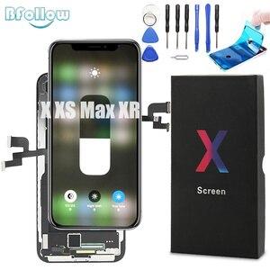Image 1 - Bsuit Original OLED avec remplacement décran de tonalité vraie pour le joint dassemblage daffichage de numériseur daffichage à cristaux liquides de XR Max diphone X XS