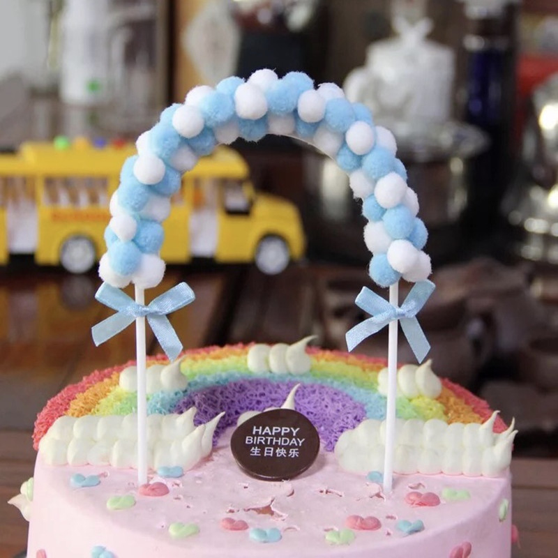 Pequeña Rosa Bebé Niña Bota Cumpleaños Recién Nacido Bautizo Para Decoración De Pasteles Topper