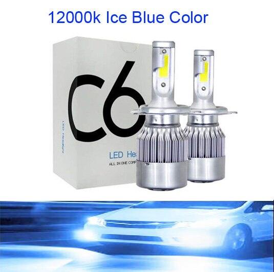 Muxall 2 шт. Blub авто автомобиль H8 H11 H7 H4 H1 светодиодный фары 6000 К холодный белый 72 Вт 8000 лм COB лампы Диоды автомобилей запчасти лампы - Испускаемый цвет: 12000K