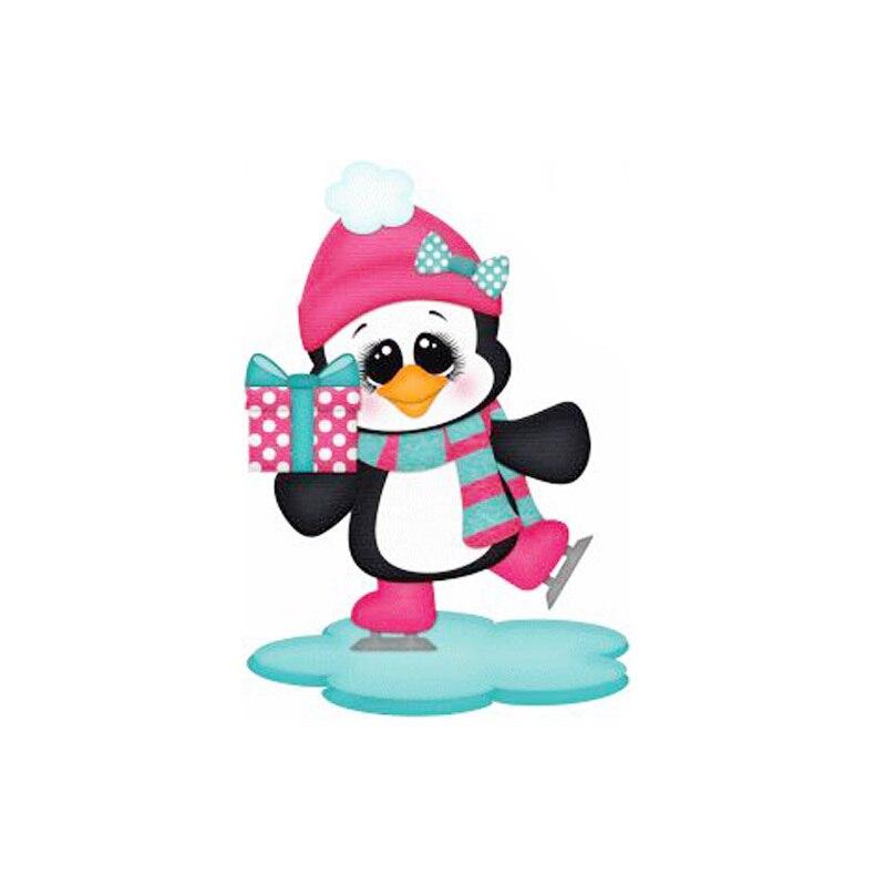 Navidad pingüino Metal corte tropa Scrapbooking Nuevos cortes tarjeta haciendo Nuevos troqueles para 2019