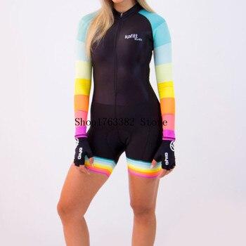 Triathlon skinsuit verão esportes das mulheres manga longa conjunto camisa de ciclismo macacão roupa feminina uniforme 2020 7