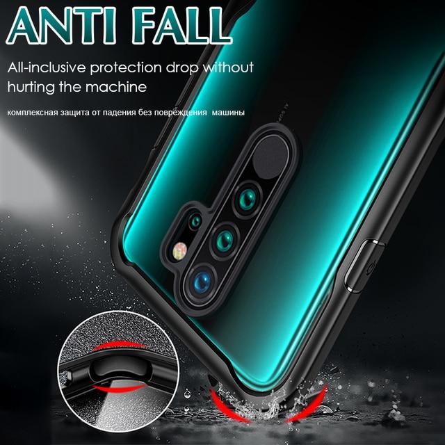 Luksusowy pancerz miękki, odporny na wstrząsy futerał na telefon dla Xiaomi Redmi 7A 8A uwaga 7 8 9 Pro Max S 8T K20 9T A3 silikonowy zderzak powrót skrzynki pokrywa