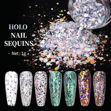 Paillette-Tips Nail-Art-Decorations Nail-Glitter Sequins Flakes-Slices Irregular Holographics