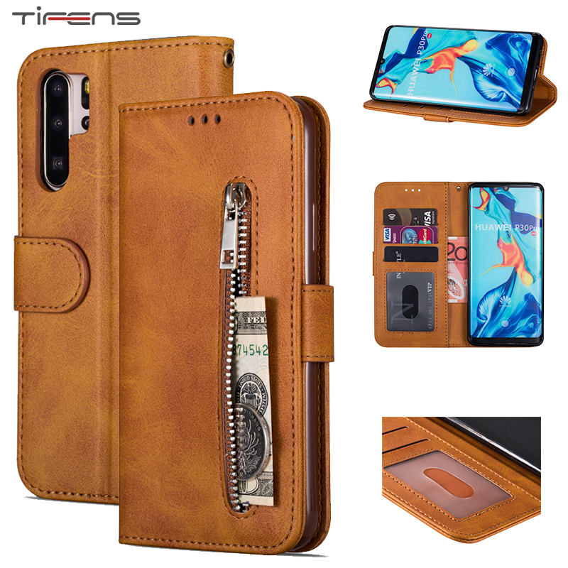 Zipper Wallet <font><b>Flip</b></font> <font><b>Case</b></font> For Huawei P20 P30 <font><b>Mate</b></font> 10 <font><b>20</b></font> Pro <font><b>Lite</b></font> Y7 Y6 Psmart Plus 2019 Leather Cover Hawei Honor 8A 10i 20i Coque image