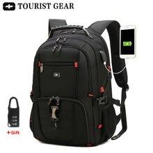 Erkek İsviçre sırt çantaları seyahat çantası İş anti theft sırt çantası erkek mochila USB şarj 15.6 17 inç dizüstü sırt çantası su geçirmez