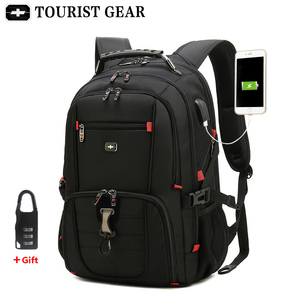 Image 1 - Mochilas suíças dos homens bolsa de viagem negócios anti roubo mochila masculino usb de carregamento 15.6 17 polegada portátil mochila à prova dwaterproof água