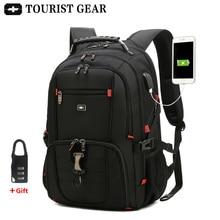 mens swiss backpacks travel bag business anti theft backpack men mochila USB Charging 15.6 17 inch Laptop Backpack waterproof
