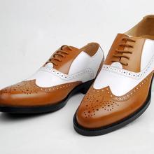 Мужские кожаные туфли-оксфорды; Цвет черный, белый; два цвета; Элегантные Мужские модельные туфли с перфорированным носком; свадебные туфли; модная деловая обувь