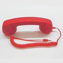 3,5mm Jack clásico Retro teléfono auricular Mini micrófono altavoz teléfono receptor de llamada para Iphone Samsung Huawei xiaomi