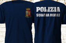 Polizia Di Stato Italia Italia Squadra Mobile dipartimento Di Polizia Tees abbigliamento Di marca uomo stampato Fashion Design Muscle Shirt
