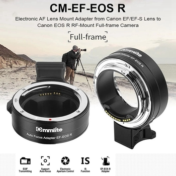 Commlite CM-EF-EOS R Lens Mount Adapter Electronic Auto Focus Mount Adapter with IS Function Aperture Control for Canon EF/EF-S 1