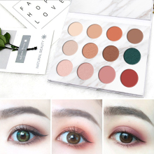 VERONNI Shimmer Eyeshadow Matte Pallete 12 Color Pigmented Eye Shadow Palette Make up maquillage