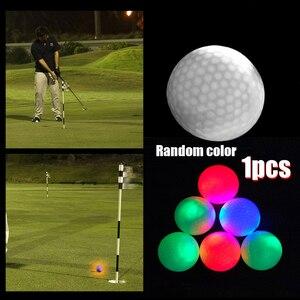 7-Цвет мигающий светодиодный светильник вверх мячи для гольфа светящиеся мигающие в темное время суток мячи для гольфа мульти Цвет трениров...