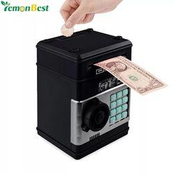 Elektronische Sparschwein ATM Passwort Geld Box Bargeld Münzen Spardose ATM Bank Sicher Box Automatische Ablagerung Banknote Weihnachten Geschenk
