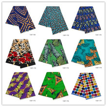 African wax fabric 100% polyester high quality Embroidery real wax ankara fabric african wax prints for dress 6 yards/piece 1307 ankara fabric african real wax print 2019 wax high quality african wax cotton fabric 6yards for women dress 1307 77