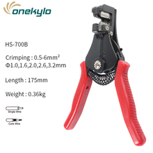 Stripping Pliers Automatic Range 0.5-6.0mm2 Cutter Cable Wire Stripper Tool Multitool Adjustable Insulation stripper Pliers talon tl 206 round cable cutter wire stripping pliers black red