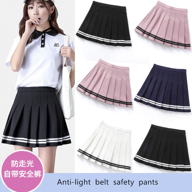 Short skirt female high waist pleated skirt a line skirt college style kawaii skirt female lolita  net red hot sale 1