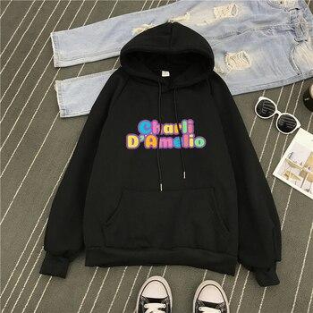 Pink Clothes Hoodie Women Sweatshirt Charli Damelio Mens Hip Hop Hoodies Moletom Feminino Sudadera Oversized  Winter Jacket Coat 9