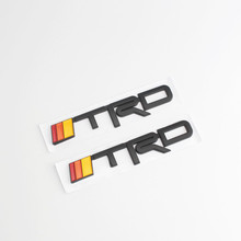 Car Window Sticker Auto Emblem Decal Decoration for Toyota TRD Logo Corolla Yaris Crown Hybrid Rav4 Izoa Avensis Auris EZ Prado