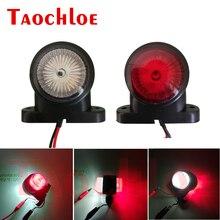 2 adet işaretleyici ışıkları araç römorku pozisyon ışık kamyon traktör arka gümrükleme lambası LED kırmızı beyaz 12V 24V park yan ışıkları