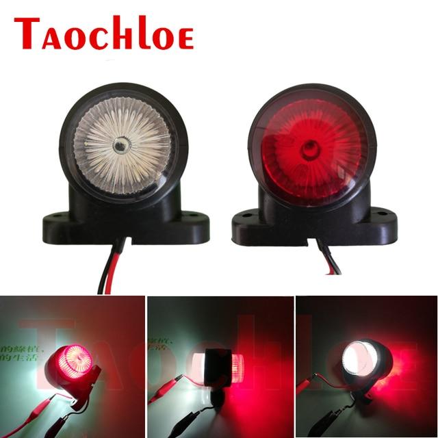 2Pcs Marker Lights For Car Trailer Position Light Truck Tractor Rear Clearance Lamp LED Red White 12V 24V Parking Side Lights