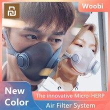 Маска Youpin Woobi Play для взрослых, 4 слойная Защитная односторонняя маска для лица PM2.5, маска от загрязнения воздуха, Пыленепроницаемая, дышащая