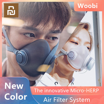 Youpin Woobi Play Adult Mask 4 Layer Protective One-way Valve Face Mask PM2.5 Air Pollution Mask Dustproof Breathable