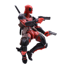 все цены на X Men Super Hero Amazing Yamaguchi Deadpool Action Figure PVC Figurine Collectible Model Christmas Gift Toy For Children онлайн