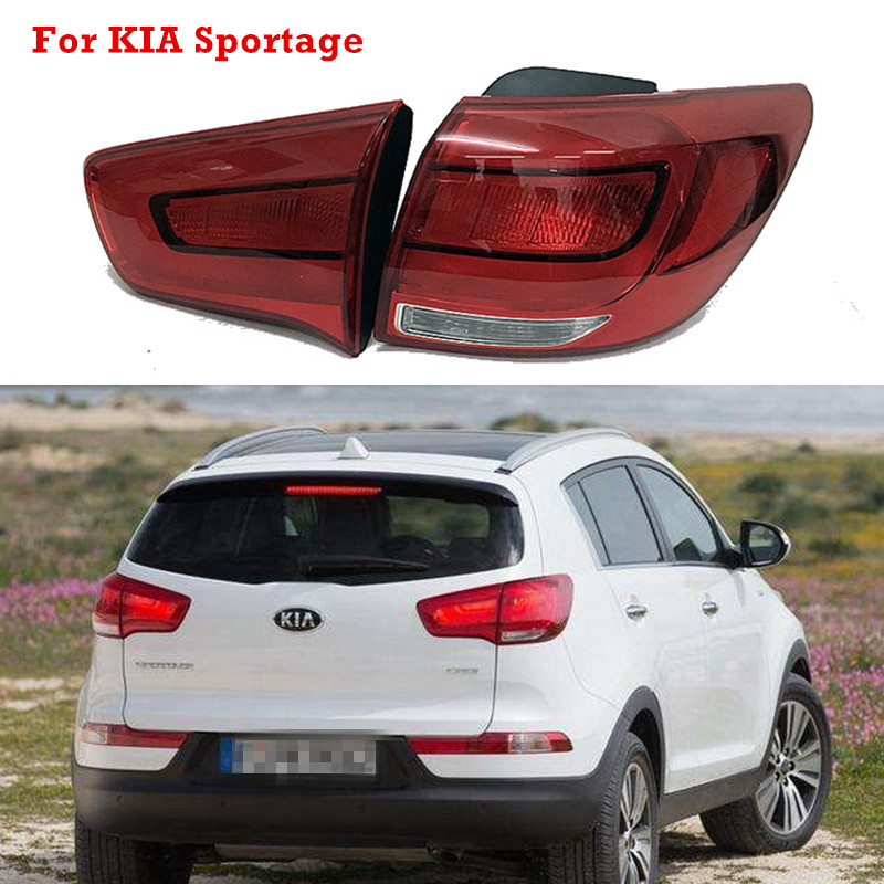 MZORANGE Outer Inner Tail Brake Light For KIA Sportage R 2014 2015 2016 Taillight Tail Lamp Brake Lamp Assembly  Car Styling