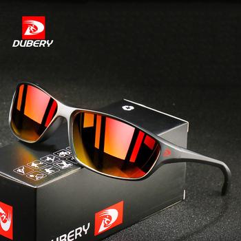 DUBERY sport Style spolaryzowane okulary mężczyźni 2020 nowych moda Outdoor Travel okulary Ultralight okulary rama gogle tanie i dobre opinie GRFISIA CN (pochodzenie) Dla osób dorosłych Z tworzywa sztucznego NONE polaryzacyjne MIRROR UV400 40mm 70mm