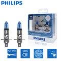 2 шт., автомобильные галогенные лампы Philips H1 12 В 55 Вт P14, 5000 К