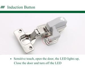 Image 5 - 10 Stuks Universele Led Onder Kast Licht Kast Innerlijke Scharnier Lamp Kast Garderobe Sensor Licht Home Keuken Nachtlampje