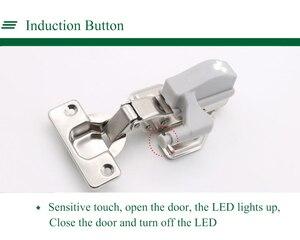 Image 5 - 10pcs Universal LED Under Cabinet Light Cupboard Inner Hinge Lamp Closet Wardrobe Sensor Light Home Kitchen Night Light