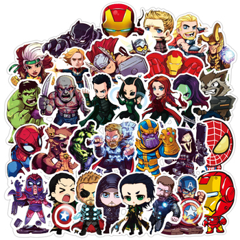 100PCS Super Hero Stickers Marvel Sticker Skateboard Motorcycle Luggage Stickers For Laptop Waterproof Superhero Sticker dc super hero girls harley quinn's spooky sticker activity book