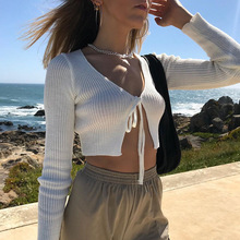 Summer Cardigan Pure Color Cotton Tops Sexy V Collar Body Fitting Cardigan Top Women Sweaters Knit Jumpers Spring Rebeca Mujer