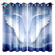 Angel Wings 3D Curtains for Double Room Modern Blackout Curtains Living Room Bedroom Outdoor Door Curtain rideaux pour le salon le double