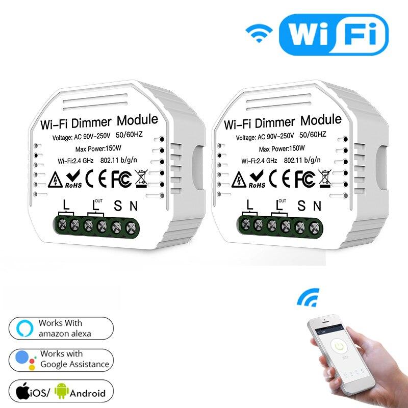 UK EU tuya wifi Smart life Light dimmer breaker Controller module DIY Smart Home Modified wall Switch APP Remote voice Control Dimmers     - title=