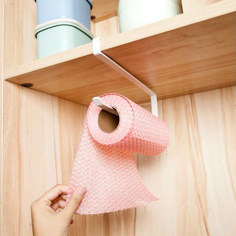 New Creative Tissue Towel Rack Kitchen Paper Holder Hanging Bathroom Toilet Roll Paper Towel Holder Kitchen Cabinet Storage Rack